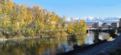Grenoble in November (Hlne_D) Tags: autumn winter panorama cloud mountain snow plant france alps tree fall photoshop montagne alpes grenoble automne plante river hiver chartreuse rivire neige nuage arbre belledonne isre rhnealpes labastille massifdelachartreuse chainedebelledonne hlned margionrhnealpes rhnealpesfrance