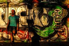 Udo at Boxhagener Platz at dusk (Wanderlust_73) Tags: summer berlin germany graffiti friend dusk actor friedrichshain magichour boxhagenerplatz iloveberlin udolutz