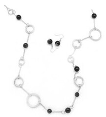 5th Avenue Black Necklace K2 P2120-4