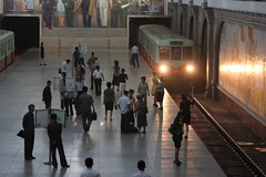 Metro in Pyongyang (ronniedankelman) Tags: station asia metro korea northkorea azie pyongyang noordkorea kimjongun