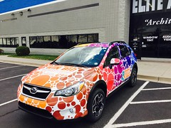 Vehicle wrap for Indi give!