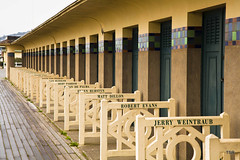 Cabanas on the beach at Deauville-Explore 11/23/14 (doveoggi) Tags: france beach explore normandy deauville cabanas 8688