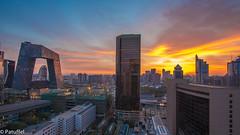Beijing CBD Skyline Sunrise (patuffel) Tags: skyline sunrise beijing cbd