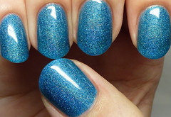 Ever After Polish Frozen (http://www.thepolishedhippy.com) Tags: blue swatch nail polish indie jelly after ever sheer scattered holographic varnish swatches lacquer holo bigcartel