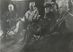 Briefing, Generals Almond, Shepherd, MacArthur, and Smith, 17 September 1950 (Marine Corps Archives & Special Collections) Tags: marine war oliver shepherd almond smith edward korean corps marines lemuel douglas macathur