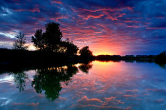 The Big Finale (NaturalLight) Tags: blue sunset color wow reflections magenta surreal kansas finale wichita chisholmcreekpark ksccna9441