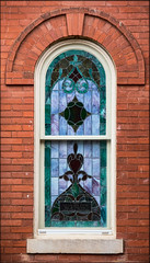 The Single Window (gtncats) Tags: brick church window stainedglass canon70d photographyforrecreation infinitexposure