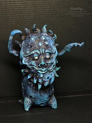 abysser1 (Sweet_Sign) Tags: blue sculpture art nature smile animal dark stars design fantastic friend doll emotion handmade ooak interior being space craft atmosphere fairy fantasy clay gift figurine creature ethnic tale cosmos myth abyss spase tentackle sweetsign