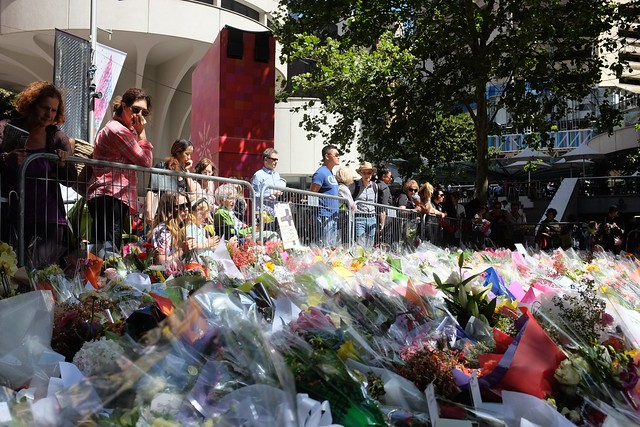 Martin Place memorial for the Lindt Cafe siege