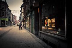 Toward Christmas (Gilderic Photography) Tags: christmas street city morning people urban reflection window shop lumix lights europe belgium belgique belgie silhouettes panasonic reflet rue liege ville fenetre lumieres gilderic lx3 dmclx3