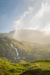Little Waterfall (Marco_Rosy_88) Tags: road morning sky mountain water fog clouds river landscape waterfall cloudy waterfalls excursion