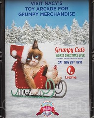 Grumpy Cat's Worst Christmas Ever Movie Poster, Macy's Department Store, New York City (jag9889) Tags: nyc newyorkcity winter usa holiday ny newyork film television retail movie advertising poster tv unitedstates manhattan unitedstatesofamerica ad midtown departmentstore macys macy motionpicture 2014 lifetime jag9889 20141125