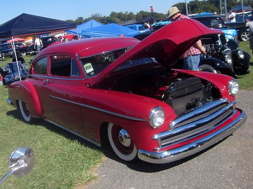 1949 Chevy Fleetline (splattergraphics) Tags: chevy carshow 1949 fleetline slammed customcar baltimoremd pimlicoracecourse roddersjournalrevival