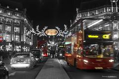 Oxford Christmas Lights (SandraPardoGerena) Tags: christmas inglaterra england blackandwhite london blancoynegro lights navidad londres oxfordcircus