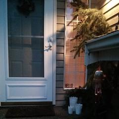 IKEA Lace Candles & Flowerpot Windchime (Heath & the B.L.T. boys) Tags: christmas door ikea home rental evergreen windchime instagram