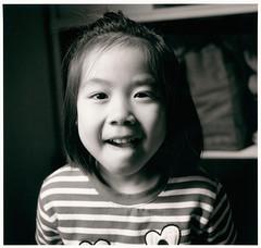 Nunu - Darkroom Enlarged Print () Tags: bw film child scan negative childlike   ilfordhp5plus  hasselblad503cw   opdanphotonote  carlzeiss60mmcft