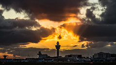 "Schiphol airport during sunset • <a style=""font-size:0.8em;"" href=""http://www.flickr.com/photos/125767964@N08/15924637569/"" target=""_blank"">View on Flickr</a>"