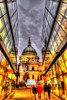 Winter glow (Tryppyhead) Tags: winter london reflections stpaulscathedral hdr cityoflondon nikond5000 photomatixpro4