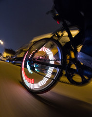 driving home (SpotShot) Tags: longexposure bike bicycle wheel canon eos monkey long exposure driving rad fisheye 7d 8mm walimex fahrrad fahren langzeitbelichtung f35 lectric monkeylectric canoneos7d m232 monkeylight walimex8mmf35