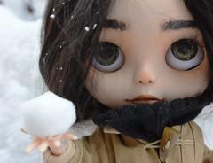 Frankie's first snow