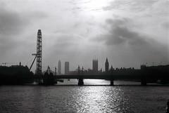 Old London Town (snady71) Tags: bridge london film thames 35mm kodak trix londoneye olympus analogue om1