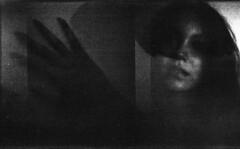 (fritz london) Tags: portrait blackandwhite mediumformat model diptych experimental doubleexposure surreal multiple holga120fn holga120film