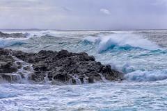 Brandung (FotoDB.de) Tags: strand meer wetter felsen wellen sturm brandung unwetter ozean