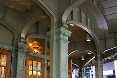 Grand Central Arches (lefeber) Tags: city nyc newyorkcity windows urban newyork building architecture awning downtown rivets doors columns arches trainstation grandcentralterminal