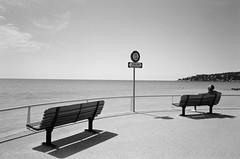 Zone Non Surveillée (Jim Davies) Tags: france film beach monochrome 35mm cotedazur kodak olympus ishootfilm analogue provence mjuii stylusepic menton compactcamera bw400cn c41 chromogenic filmfilmforever alpesmaritimee