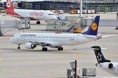 D-AEBK (airlines470) Tags: msn 500 muc lufthansa cityline emb195 daebk