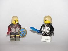 Lego Soul Calibur 5: Pyrrha Omega and Alpha Patroklos (AJV777) Tags: lego edge soul videogame minifig custom soulcalibur minifigure minifigures patroklos pyrrha brickforge custms soulcaliburv soulcalibr5