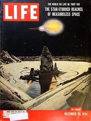 "Life Magazine (December 20, 1954). Cover by Chesley Bonestell. Final Chapter of ""The World We Live In"" (lhboudreau) Tags: magazine magazines life lifemagazine 1954 december201954 worldwelivein theworldwelivein coverart magazineart magazinecover magazinecovers bonestell chesleybonestell starstuddedreaches measurelessspace theworldweliveinpartxiii lincolnbarnett finalchapter partxiii spaceart art astronomicalart"