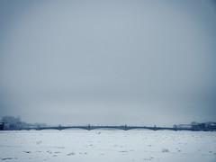 Troitskiy Most (miemo) Tags: travel bridge winter sky snow ice river stpetersburg europe russia olympus trinitybridge omd neva em5 troitskiymost panasonic1235mmf28