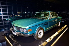 1971 BMW 3.0 CSi at the BMW Museum in Munich, Bavaria, Germany (UweBKK ( 77 on )) Tags: world show cars 30 museum germany munich mnchen bayern deutschland bavaria 1971 room sony exhibition collection vehicles bmw alpha dslr 77 automobiles csi welt