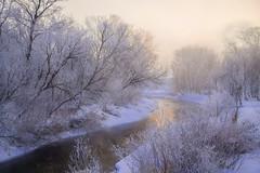 The Way The River Went (karenhunnicutt) Tags: winter creek river hoarfrost karenhunnicutt karenmeyer karehunnicuttphotographycom sunriseminnesota minneapolisfineartphotographer