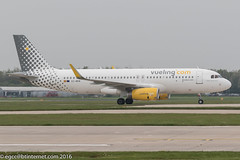 EC-MKM - 2016 build Airbus A320-232, shortly after arrival on Runway 05R at Manchester (egcc) Tags: man manchester vy airbus a320 lightroom ringway egcc vueling a320232 vlg 7017 vuelingairlines vuelingcom sharklets ecmkm miguelngelgaln