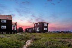 Walberswick Huts Sunrise (Craig Hollis) Tags: sunrise river landscape coast seaside fishing masks hdr blending walberswick luminosity