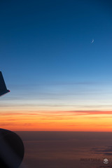 Crescent Moon over Finland (peterriordan70) Tags: sunset airborn