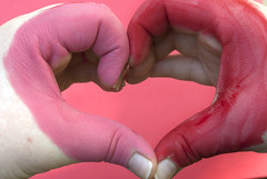 Love In All Shades (Eliza Martorano) Tags: pink red love hands heart monochromatic valentinesday hearthands handhearts monochromaticcolors