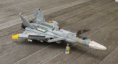 "J-44 ""Fandance"" Features (Matt Hacker) Tags: yellow fighter lego nosferatu ace jet inspired delta creation su missile dorsal combat 13 27 bays own canard moc fandance flanker j44 cfa44"