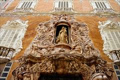 Rococo (angelsgermain) Tags: door windows sculpture religion decoration entrance palace mythology 18thcentury façade rococo valència alabster marquésdedosaigües virginoftherosary