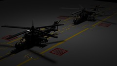 Mi-24 SuperHind (TheRookieBuilder) Tags: tarmac night lego render helicopter russian hind diorama gunship ldd mi24 legodigitaldesigner bluerender