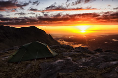 Cul Mor Sunset (bradders29) Tags: sunset mountain scotland tent corbett assynt wildcamp culmor