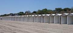 Beach Huts, Lido Beach... (Lady Haddon) Tags: venice italy beach europe repetition beachhuts lido