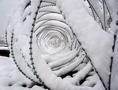 Nature Transforms Conflict (Jomak1) Tags: winter snow nature beauty weather wire war transformation conflict barrier aggression barbed climate bamyian afgnanistan jomak1