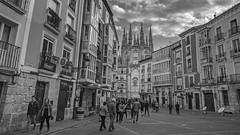 Burgos Cathedral (danperezfilms) Tags: travel blackandwhite spain cathedral streetphotography catedral espana plazamayor burgos