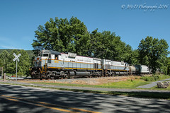DL C636 #3642 @ Delaware Water Gap, PA (Darryl Rule's Photography) Tags: train pennsylvania trains pa poconos local dl westbound eastbound alco alcos mixedfreight poconomain portlandturn