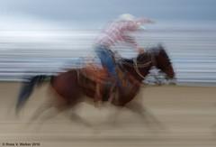 Calf Roper In Motion (walkerross42) Tags: horse motion blur cowboy highschool idaho rodeo montpelier roper bearlakecounty