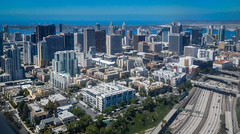 Aerial view of San Diego CA (mbell1975) Tags: california ca city skyline buildings us highway san view unitedstates i5 sandiego south cityscapes diego aerial calif southern cal interstate cityskyline interstate5 skyscappers
