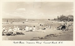 c. 1950 J.C. Walker Real Photo Postcard #18 - Yacht Basin and Dominion Wharf at Crescent Beach, British Columbia (WhiteRockPier) Tags: bc britishcolumbia postcard walker crescentbeach jcwalker